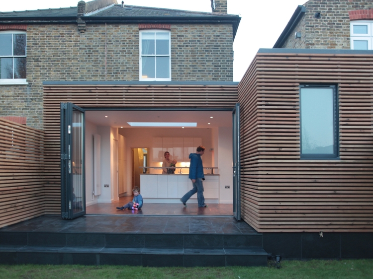 Modern Contemporary Fletcher Crane Architect Extension Kingston Timber Wood Cladding