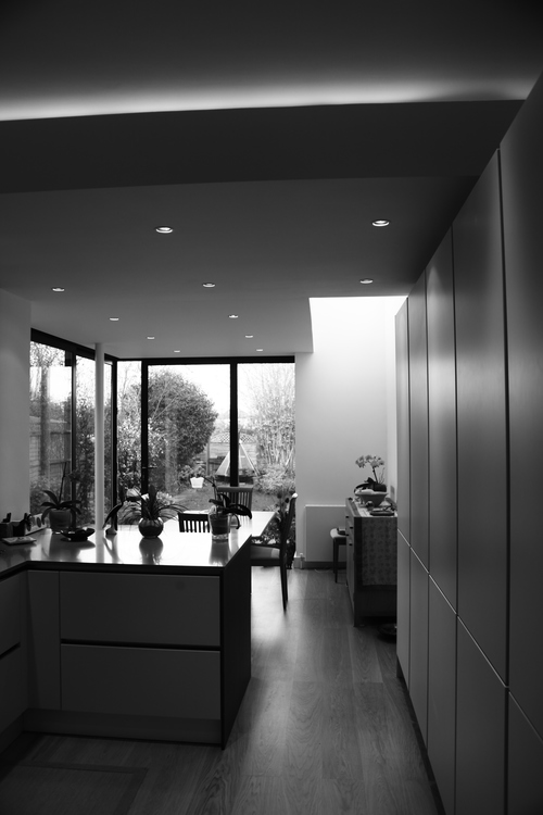 Modern Contemporary Fletcher Crane Architect Extension Kingston Internal Finish White Kitchen