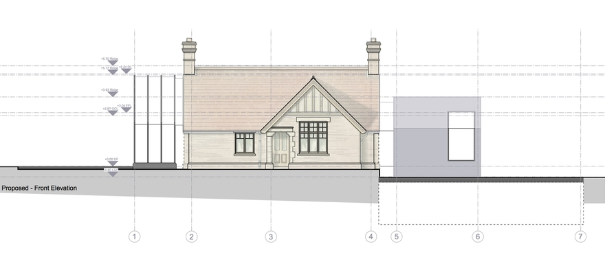 Modern Contemporary Fletcher Crane Architect Detail Elevation