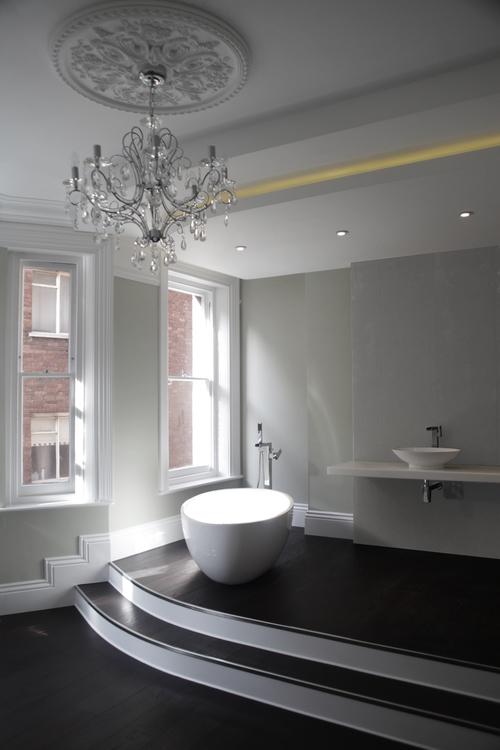 Modern Contemporary Fletcher Crane Architect Apartment Westminster London Chandelier