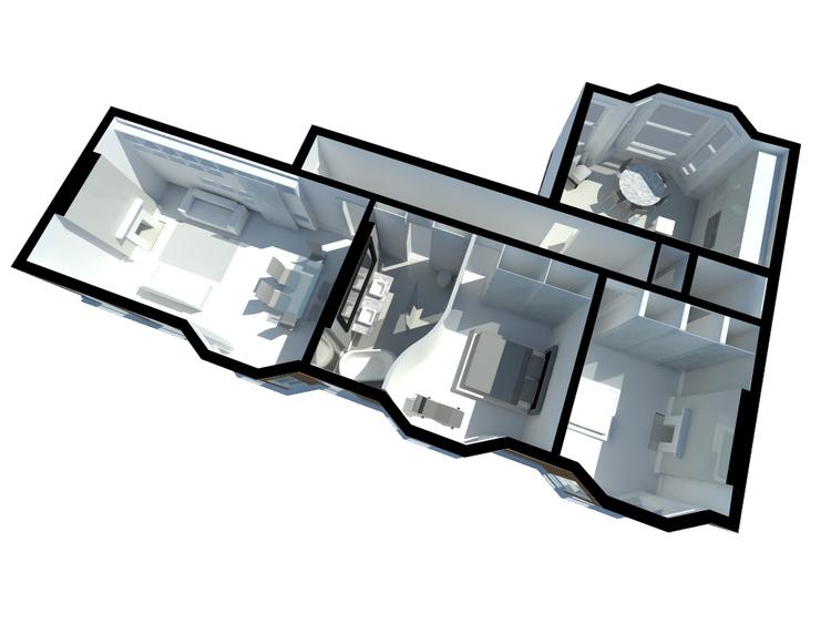 Modern Contemporary Fletcher Crane Architect Apartment Westminster London Diagram Axonometric
