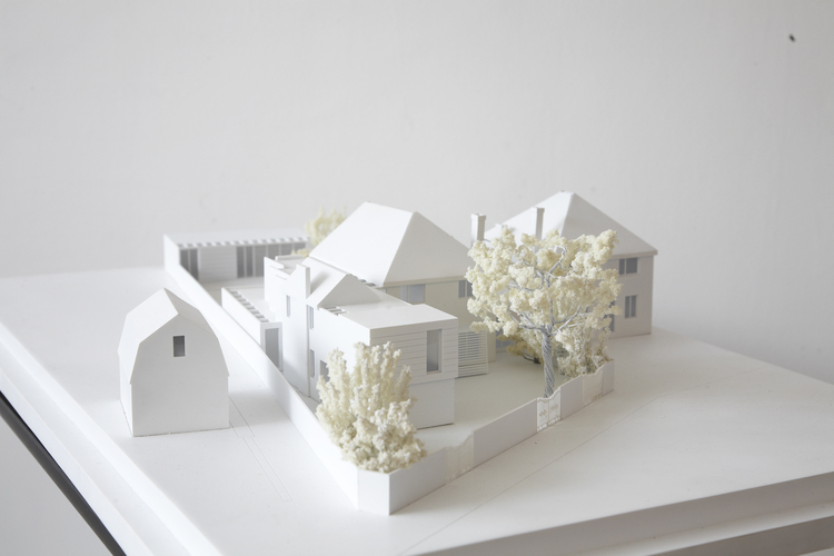 Modern Contemporary Fletcher Crane Architect House Extension Twickenham Surrey London Model Cladding
