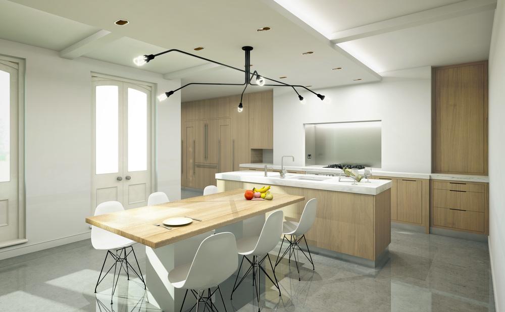Modern Contemporary Fletcher Crane Architect Historic Apartments Greenwich London Lighting Big Kitchen