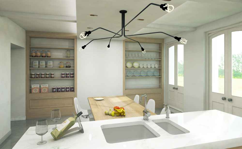 Modern Contemporary Fletcher Crane Architect Historic Apartments Greenwich London Big Kitchen