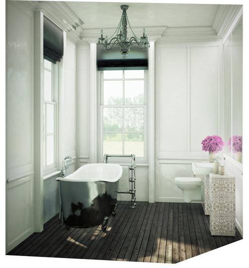 Modern Contemporary Fletcher Crane Architect Historic Apartments Greenwich London Big Bathroom Chandelier Bath