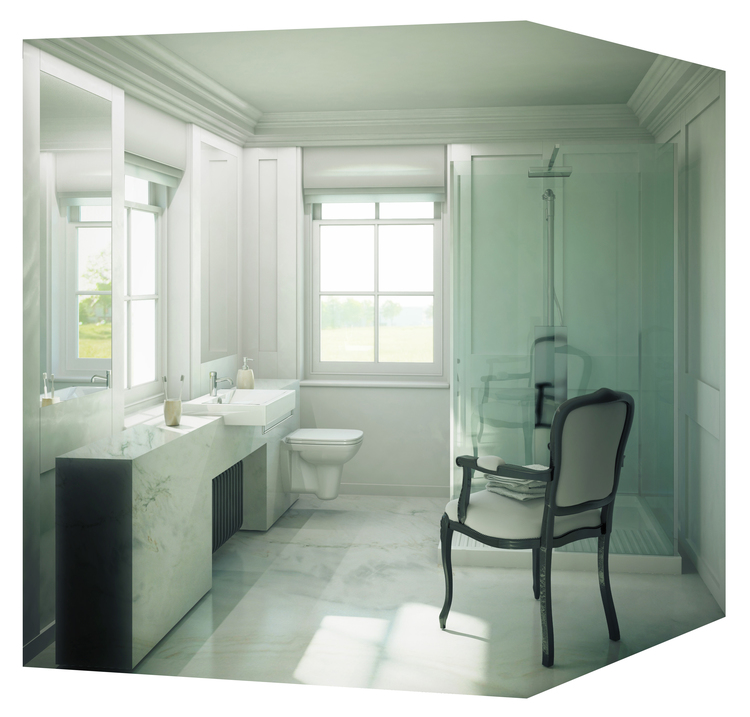 Modern Contemporary Fletcher Crane Architect Historic Apartments Greenwich London Master Bathroom
