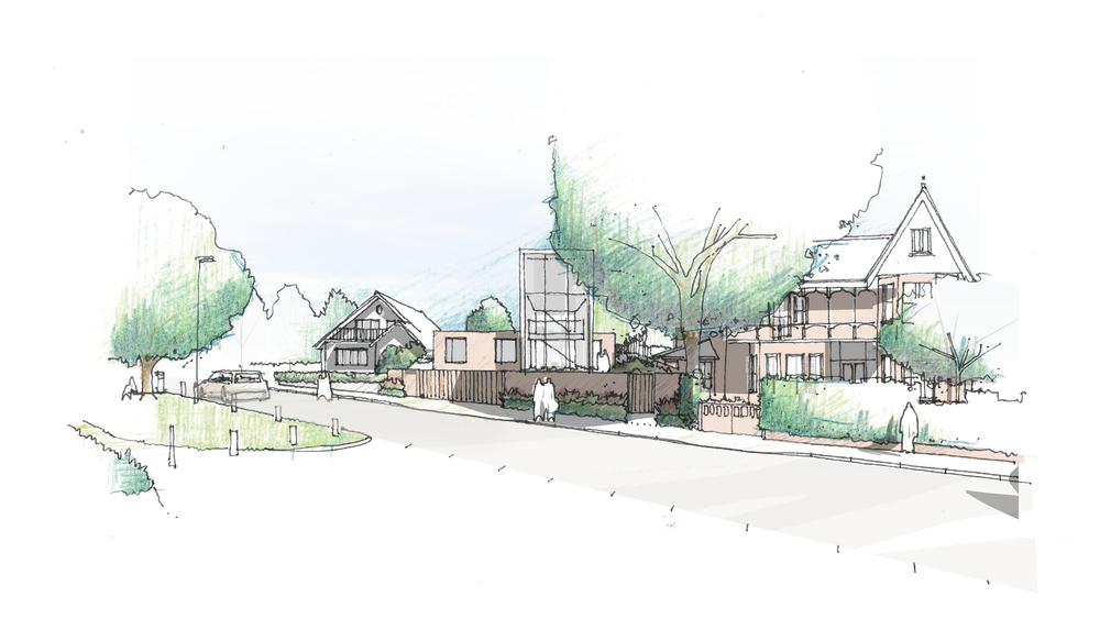 fletcher crane architects, model , house kingston, surrey , modern contemporary architecture, timber, brick