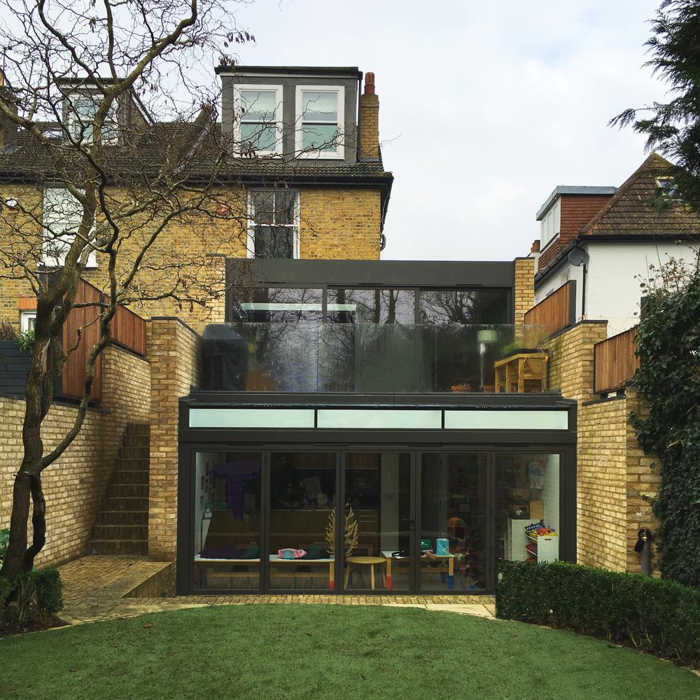 fletcher crane architects, modern contemporary architecture, teddington, richmond, surrey, brick, glazing, extension