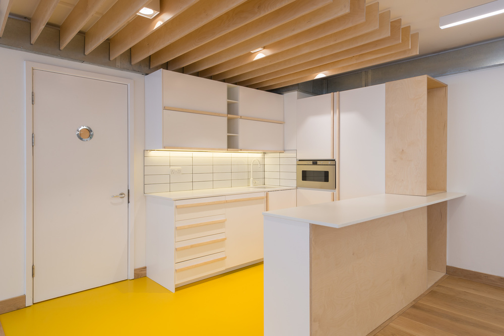 fletcher crane architects, modern contemporary, fashion street london, plywood, office refurbishment
