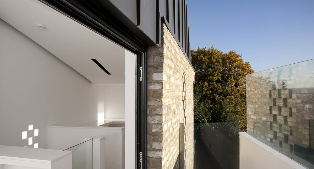 Modern Contemporary Architect House Wimbledon London Perforated Brick Zinc
