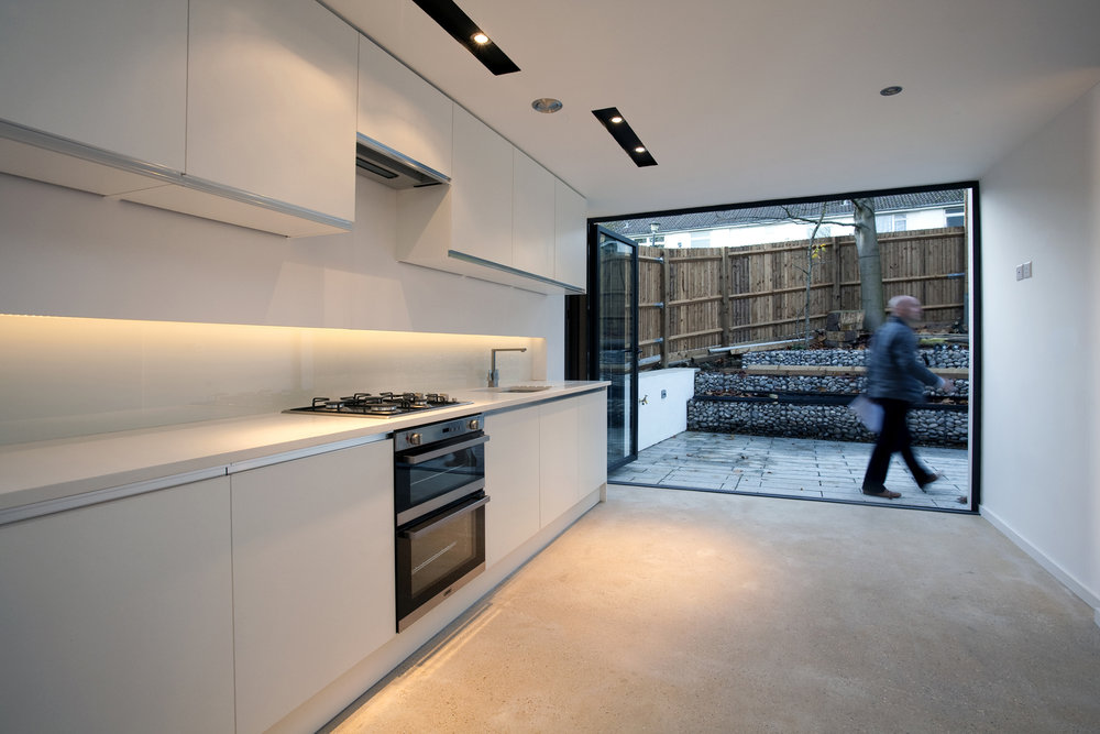 Modern Contemporary Architect House Wimbledon London Kitchen  White Garden