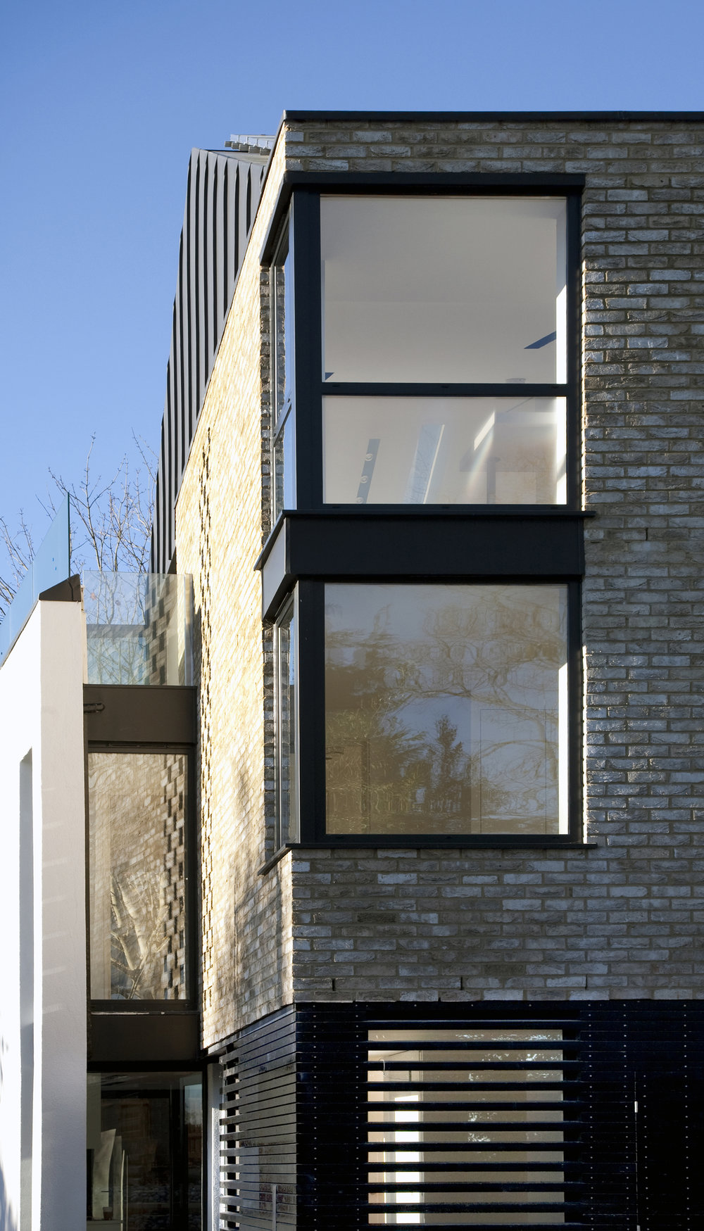 Modern Contemporary Architect House Wimbledon London Contextual Brick Louvred Windows