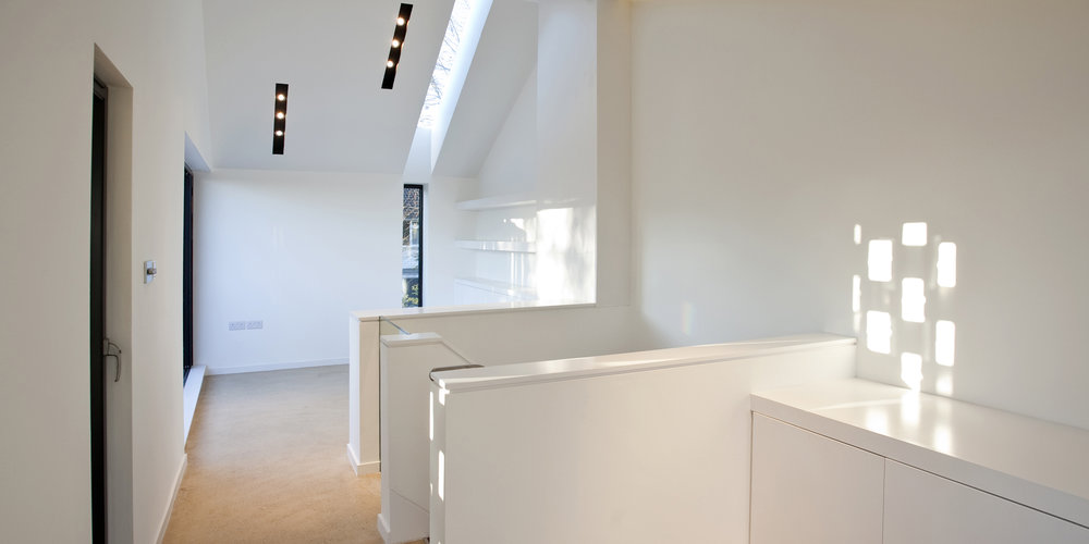 Modern Contemporary Architect House Wimbledon London Interior Fitout Recessed Lighting