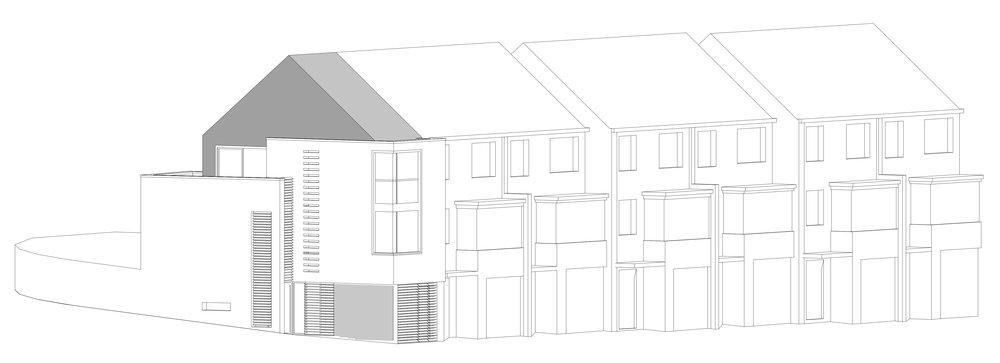 Wimbledon modern house drawing architect