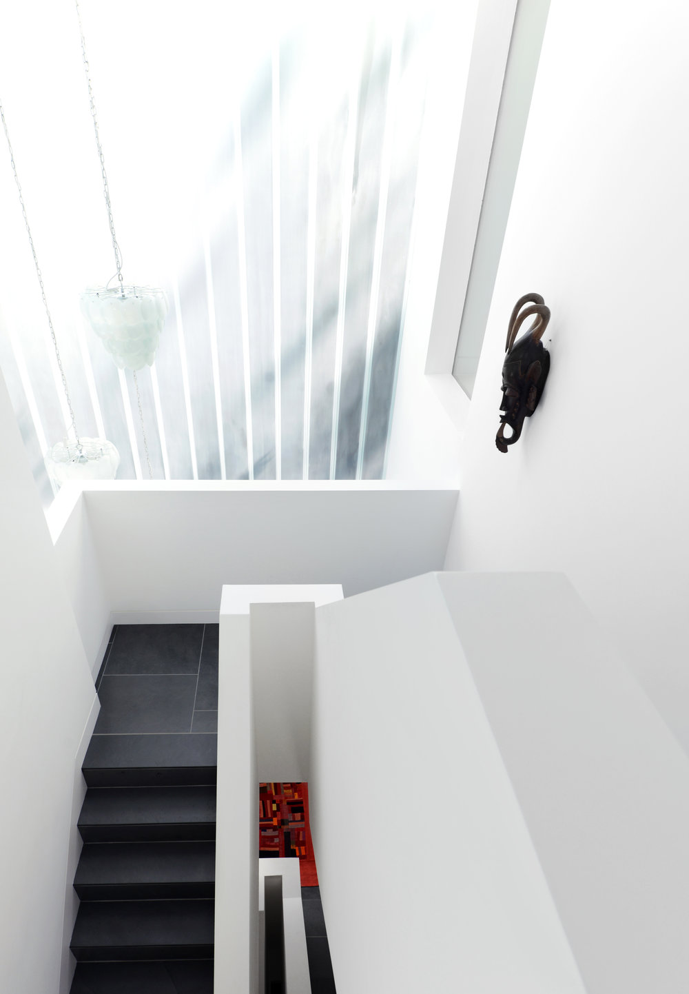 Modern Contemporary Architect Isle of Wight Hampshire Solent House RIBA Award Staircase Linit Glass