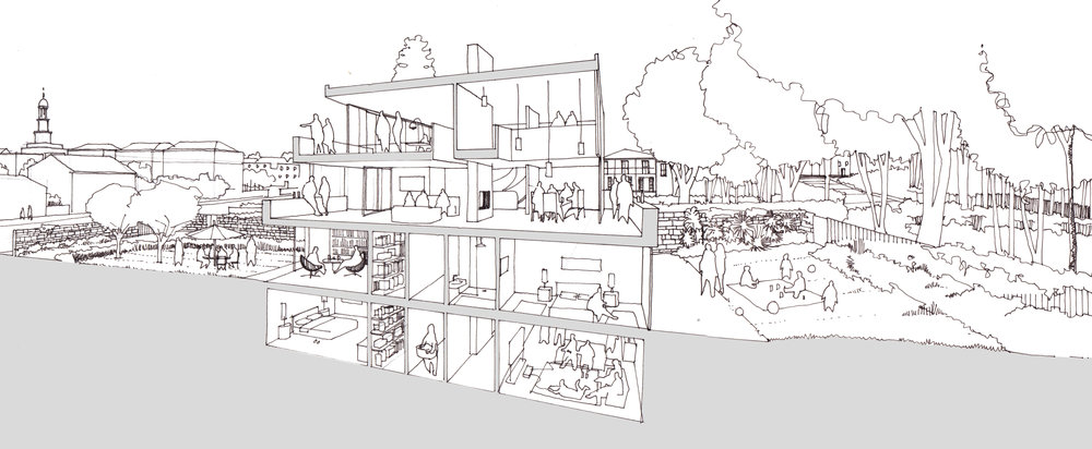 Modern Contemporary Architect Isle of Wight Hampshire Solent House RIBA Award Concept Section