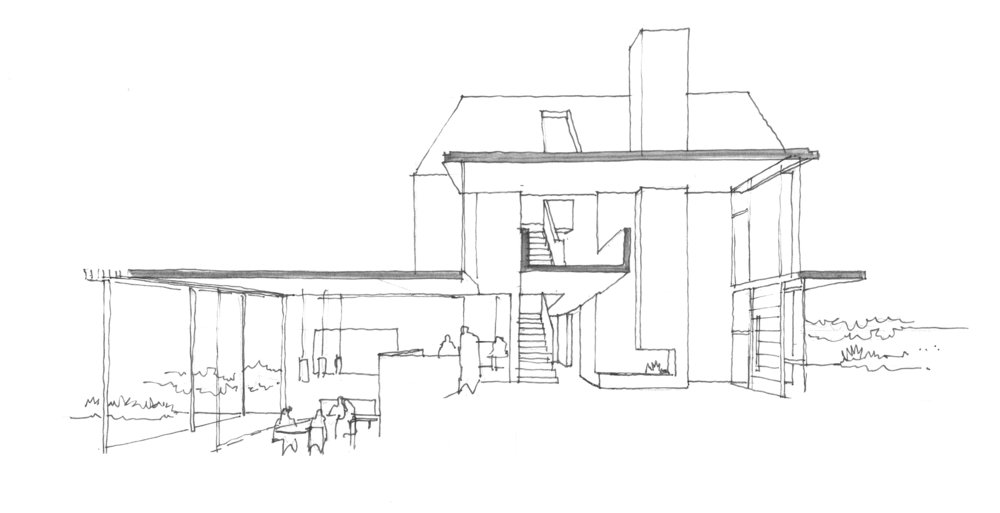 cobham architect, fletcher crane, modern contemporary house