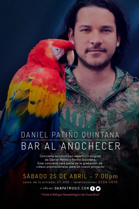 Afiche para mi más reciente concierto en Al Anochecer. Sábado 25 de Abril, 2015.