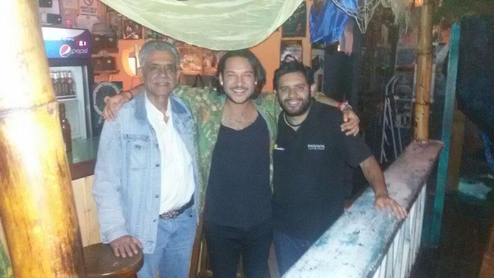 Junto a Manuel Ulloa Sr. y Jr. Enero 2015.