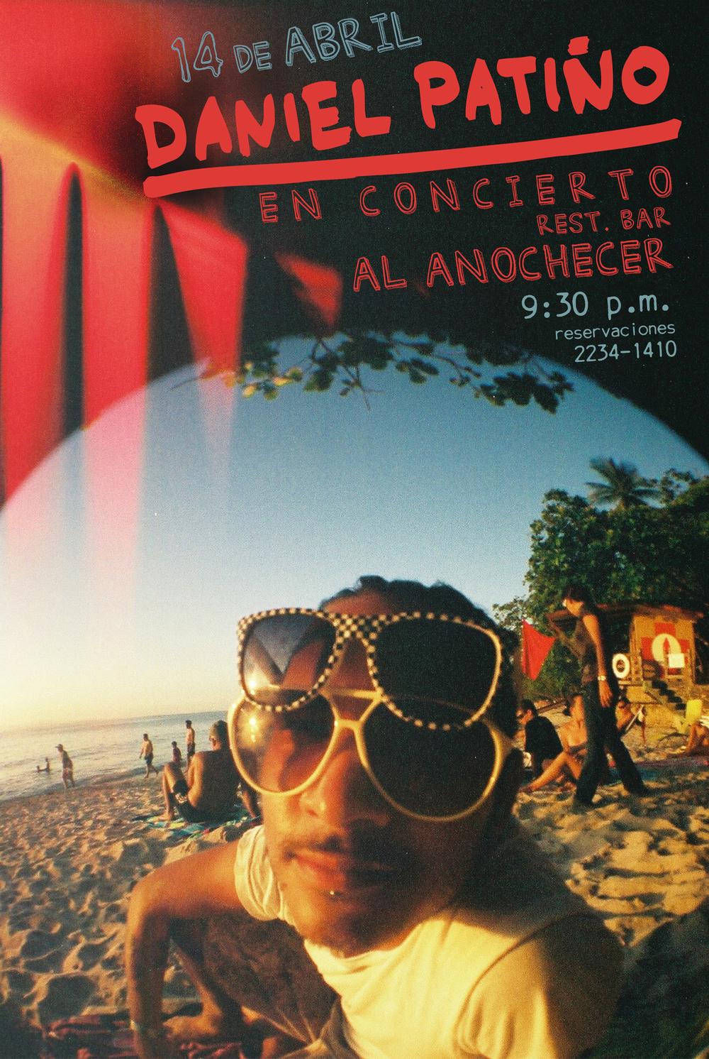 Afiche del primer concierto que realicé en Al Anochcer. 14 de abril del 2011.