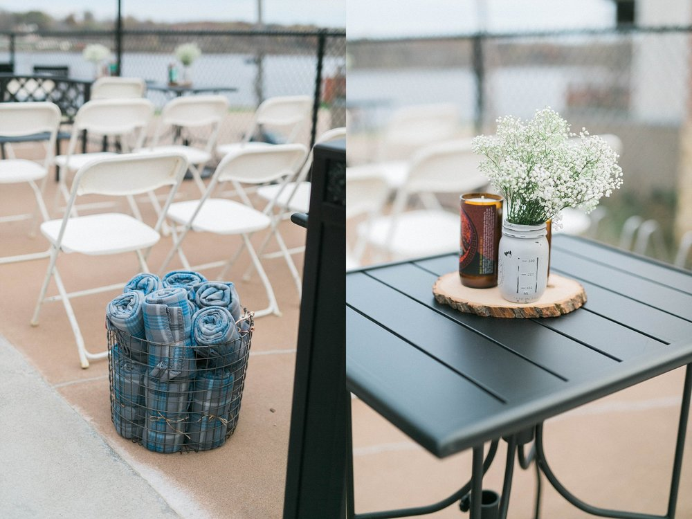 le claire wedding reception