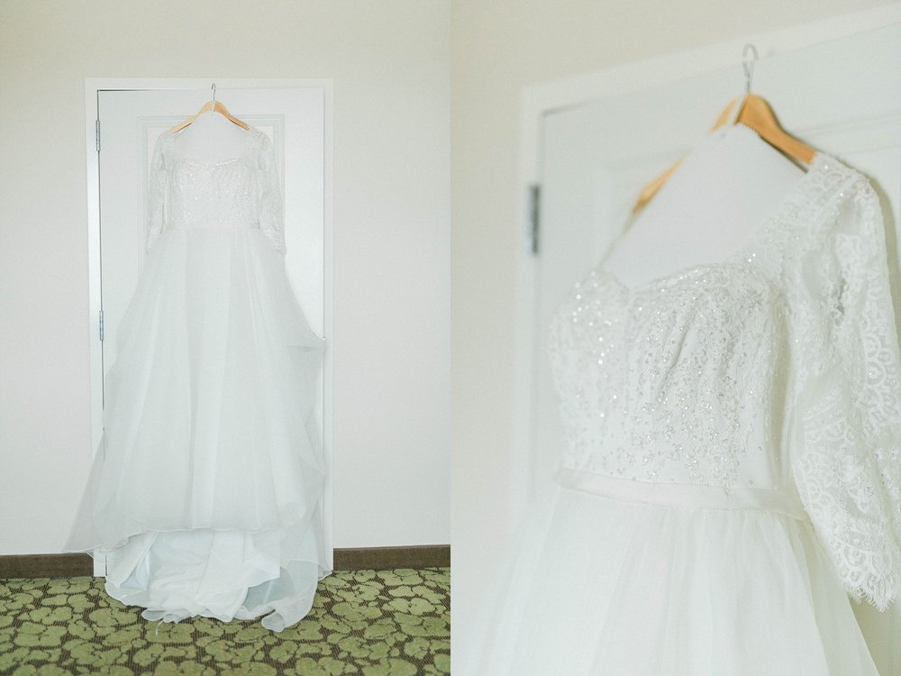 David's bridal wedding dress davenport