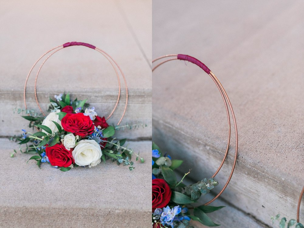 Live love flowers bridal hoops