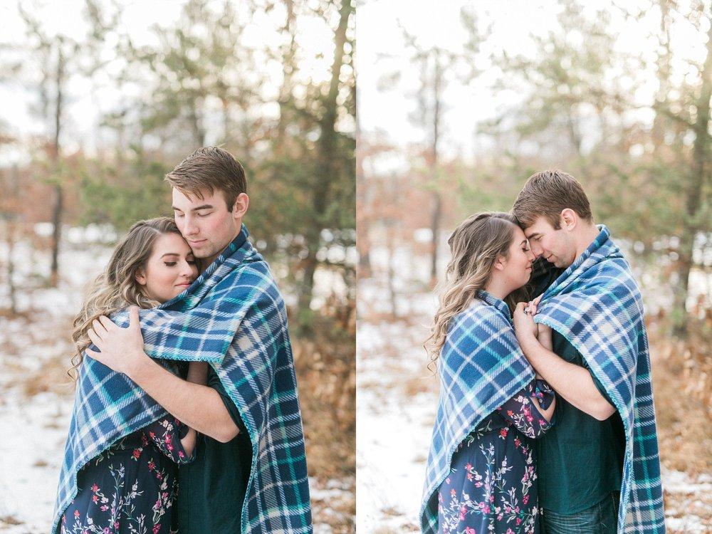 Madison winter engagement session