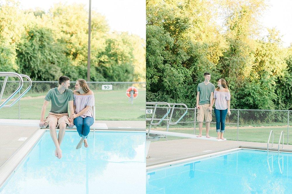 summer pool engagement madison wisconsin