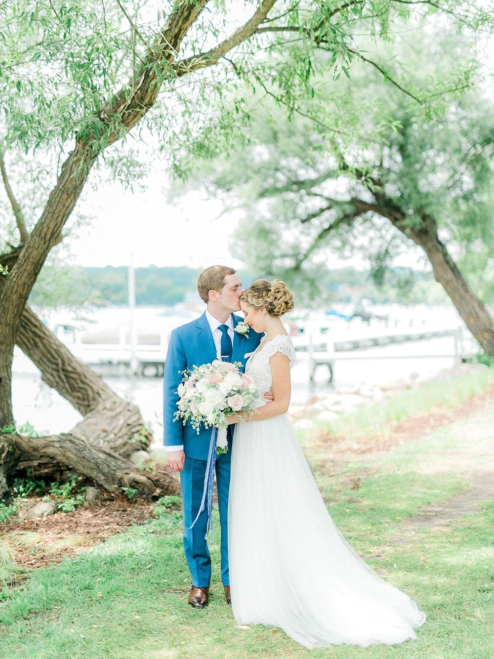 lake geneva wedding portraits
