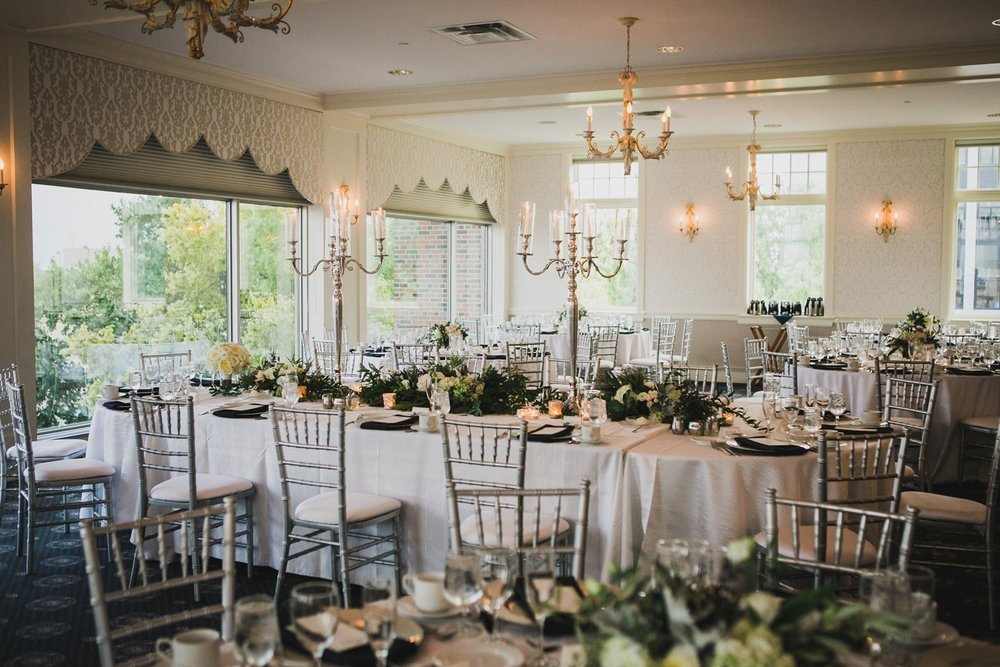 Madison Club (Upper Level)  - The Madison Club upper level is PERFECT for weddings because it has even lighting all around with gorgeous windows!! The room itself is so incredible and classy. Top pick for sure! (Image NOT mine, credit unknown)