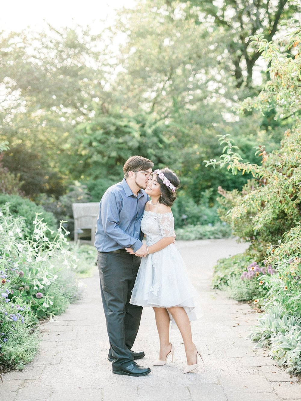 Madison Engagement in Olbrich Gardens