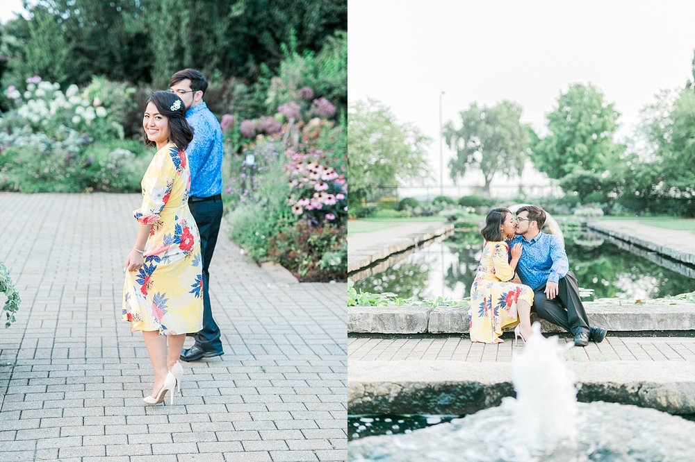Olbrich Garden Engagement Session in Madison, WI
