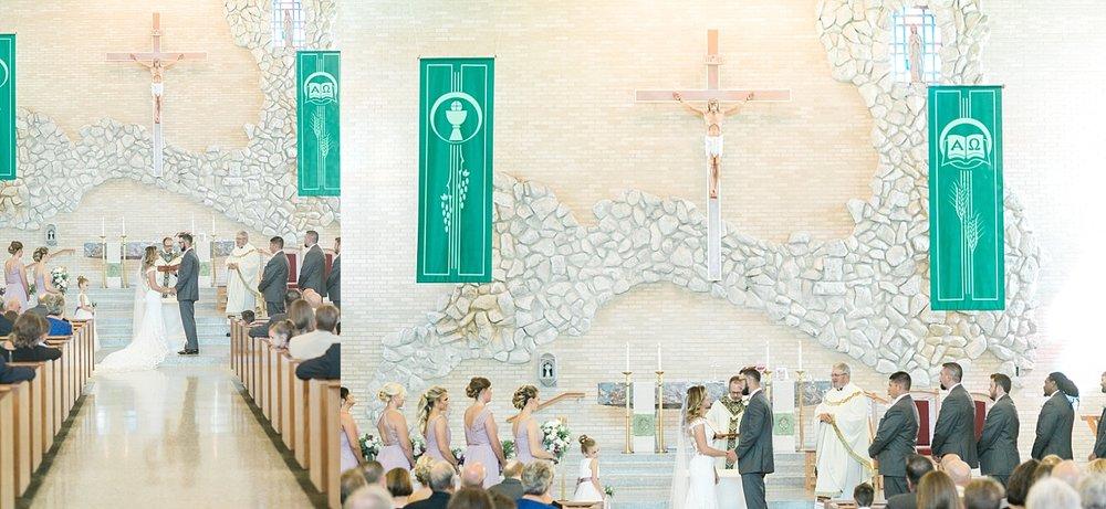 our lady of lourdes catholic church wedding bettendorf iowa