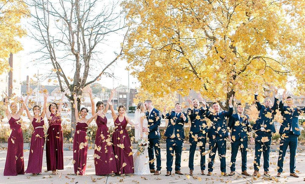 madison fall wedding photography
