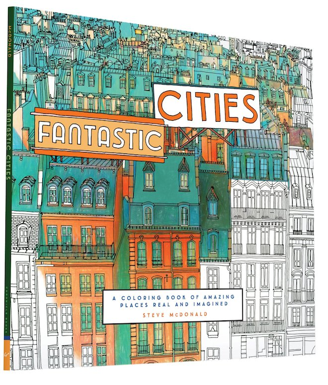 Image from An Extremely Detailed Coloring Book for Architecture Lovers on Curbed.