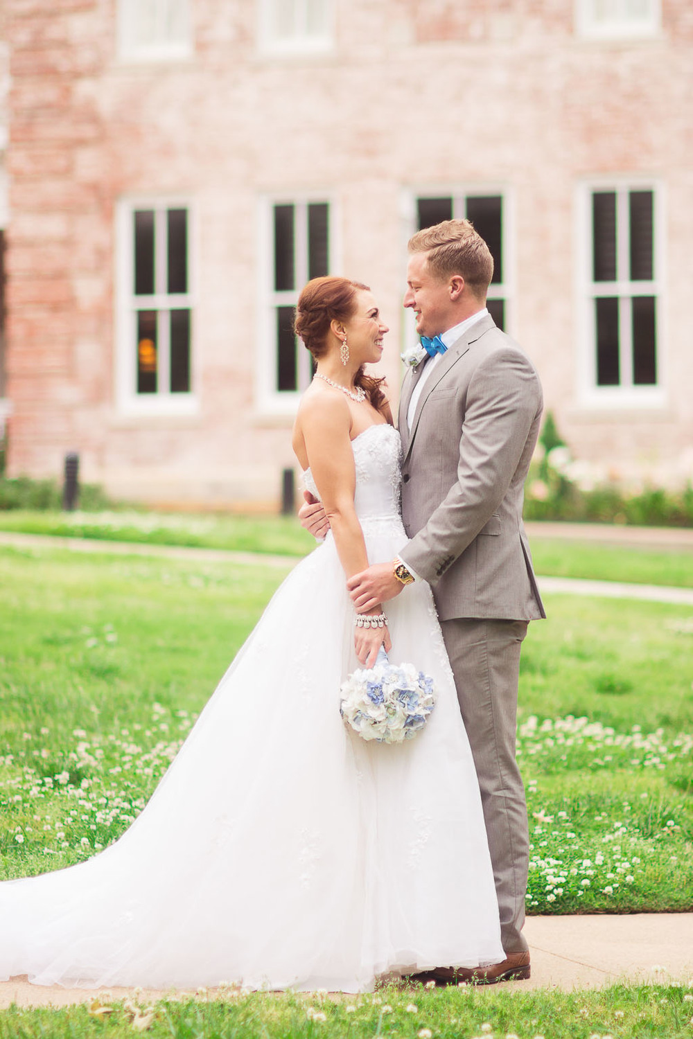Cornell Hall Wedding - Ballroom style gown - Grey Tux - fayetteville-ar-wedding-photographer
