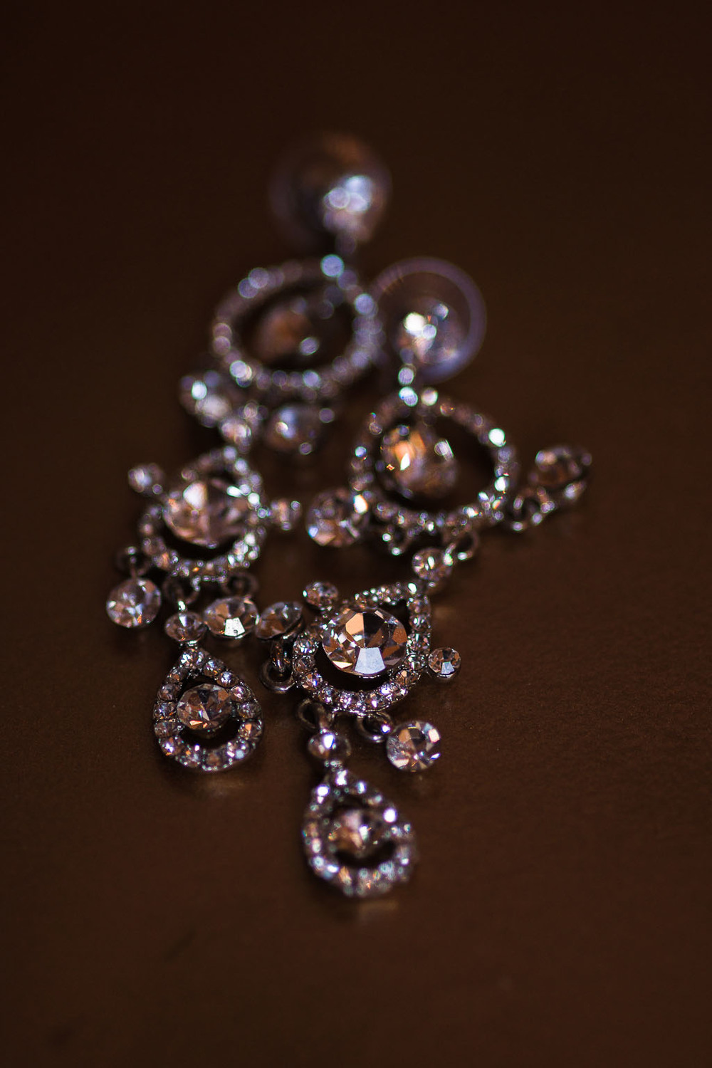 crystal diamond wedding earrings fayetteville ar wedding photographer