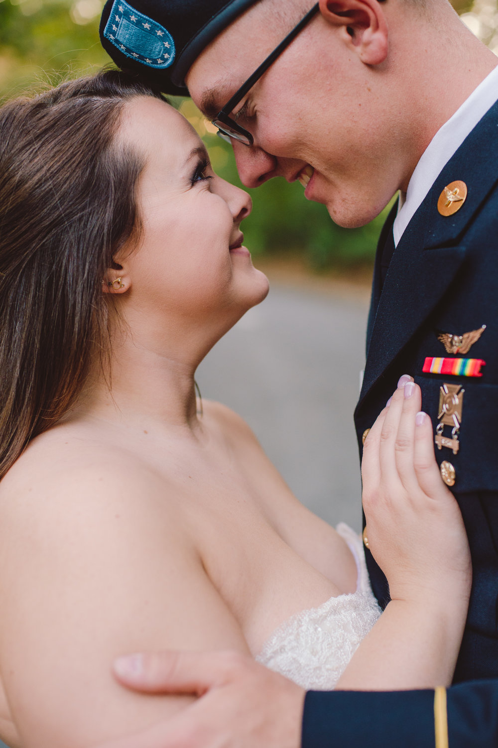 military wedding portrait