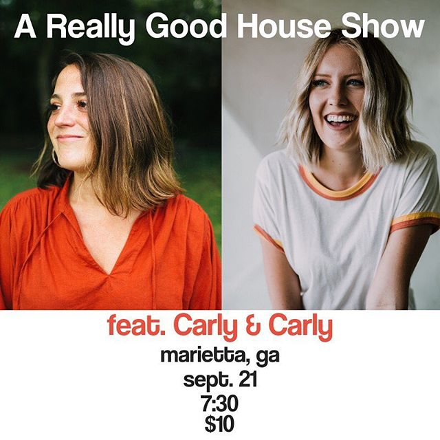 Our friends @carlybannister and @carlyburruss are playing a show at our house next Friday night, 9/21. We would love for you to join us! 7:30 PM. $10. BYOB. DM/text me or @rachelheilig for the address. Come spend the evening with us and support good music!