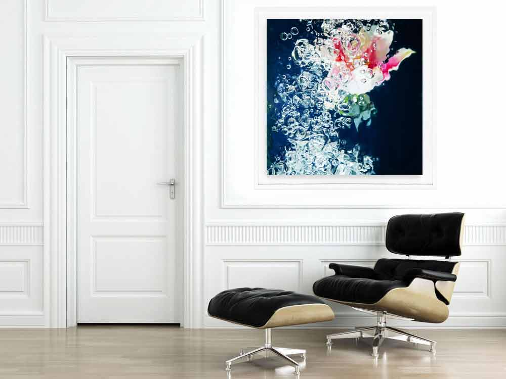 Navy and Pink Wall Art. Interior Decor by Jessica Kenyon