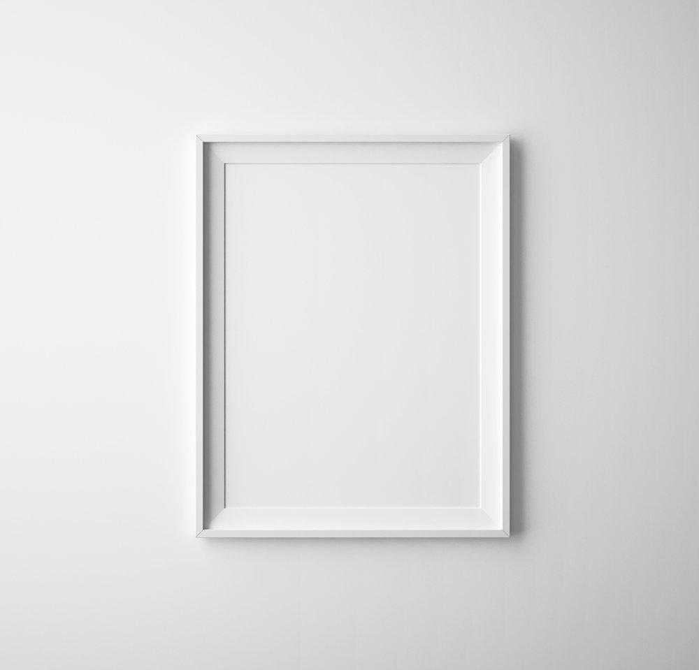 White frame & mat example