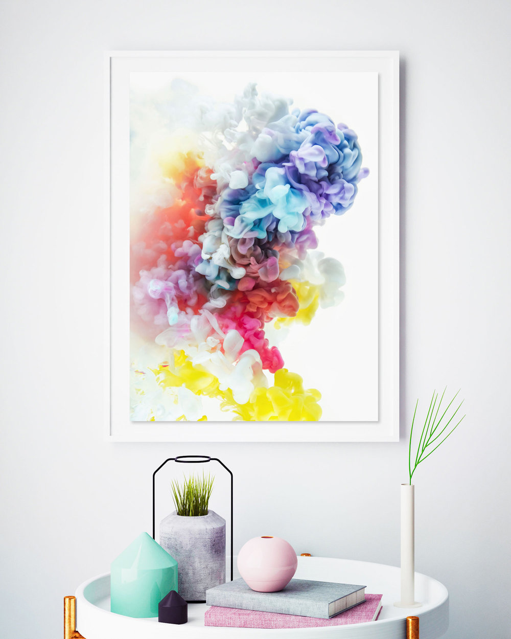 'Cloud 9' Abstract Ink Art by Jessica Kenyon