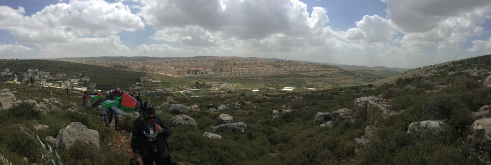 Wadi Foquin, located in Area C, in the shadow of Bitar Illit, an Israeli settlement.