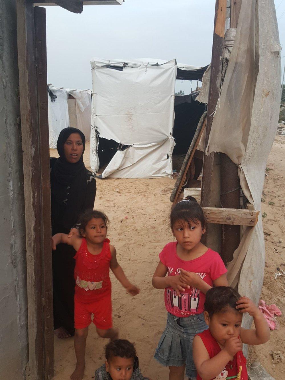 Abeer and her children