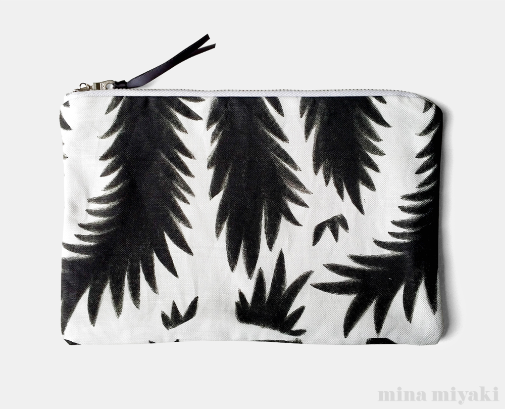 Botanical Branches Flat pouch $25