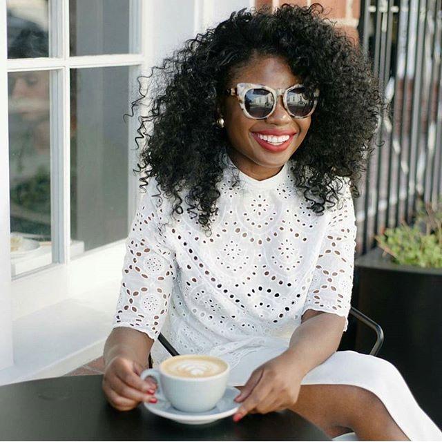 Loving Niké's feminine style  and her big sunny smile Happy Monday!  #mondaymuse #monday #goodday #stylish #prepptystyle #preppy #preppygirl #fashionista #styleicon #fashionblogger #blogger #smile #positivevibes #instafashion #instagood #instagood #fashion #fashionblog #fashionweek #blackisbeautiful #blog #instablog #mondaymotivation #whatiwore #ootd #ootdfashion #wiw #outfitoftheday #outfit #styleinspo
