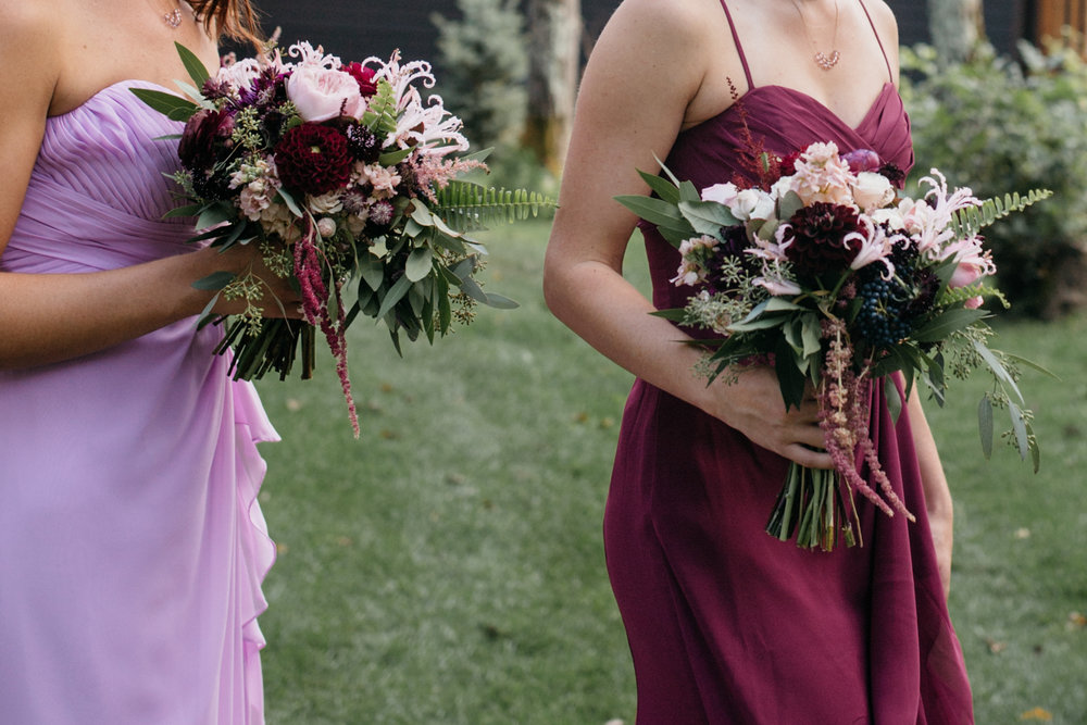 Athropologie inspired bridal bouquets made by Bloom Designs. Grand View Lodge wedding photography by Britt DeZeeuw