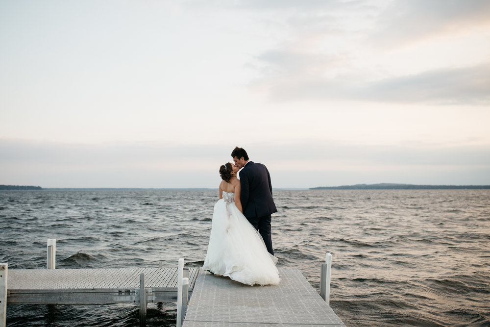 Non-traditional wedding photography by Britt DeZeeuw at Grand View Lodge