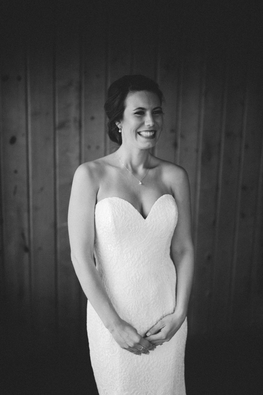 Black and white bridal portrait. Photography by Britt DeZeeuw, Brainerd Lakes area wedding photographer.
